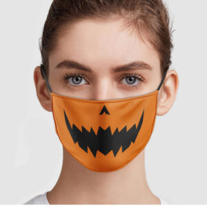 Pumpkin Halloween Jack O Lantern Face Mask