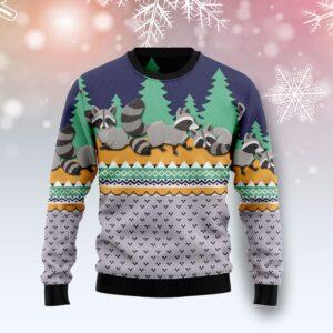 Raccoon Christmas Ugly Christmas Sweater