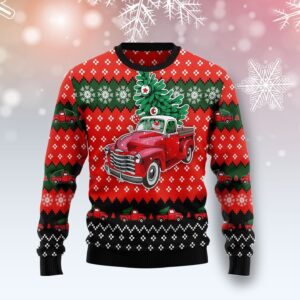 Red Truck Christmas All Over Print Ugly Christmas Sweater