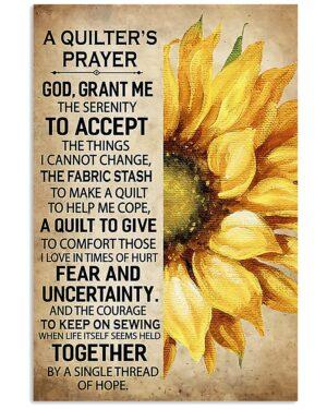 Sewing Prayer Poster