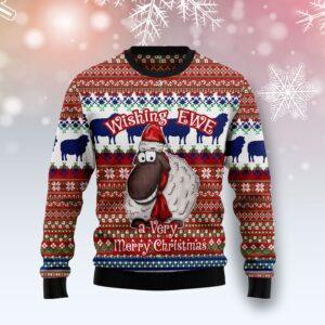 Sheep Wishing EWE Ugly Christmas Sweater