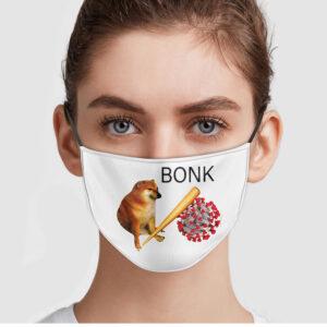 Shiba Doge Virus Bonk Face Mask