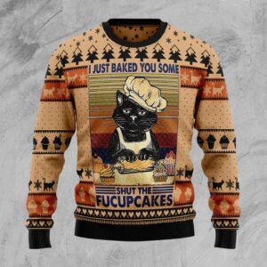 Shut The Fucupcakes Christmas Ugly Christmas Sweater