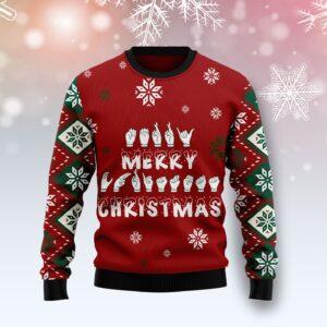Sign Language Merry Christmas Ugly Christmas Sweater