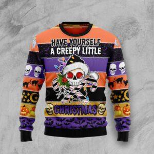 Skull Creepy Christmas Ugly Christmas Sweater