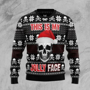 Skull Jolly Face Ugly Christmas Sweater