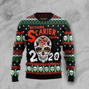 Skull Nothing Scarier Than Ugly Christmas Sweater