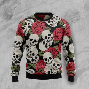 Skull Roses Ugly Christmas Sweater