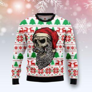 Skull Santa Claus Costume Ugly Christmas Sweater