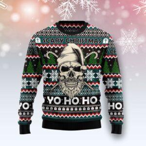 Skull Scary Christmas Ugly Christmas Sweater