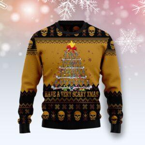 Skull Very Scary Xmas Ugly Christmas Sweater