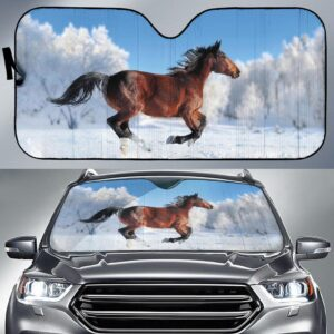 Snow Winter Horse Car Sun Shade