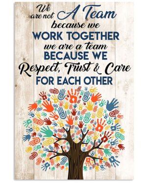 Social Worker We Work Together Poster
