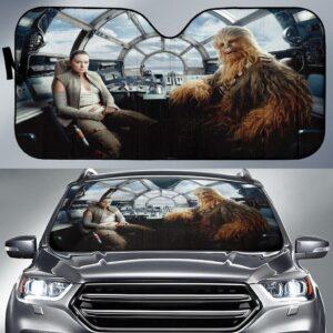Star Wars The Last Jedi Chewbacca Car Sun Shade
