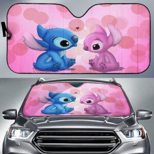 Stitch Valentine Car Sun Shade