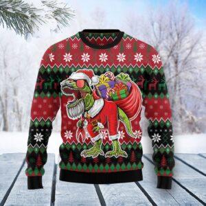 T Rex Santa Christmas Ugly Christmas Sweater