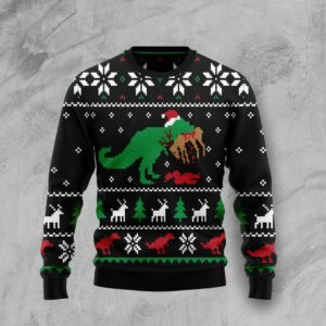 T Rex Ugly Christmas Sweater