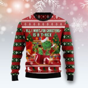 T Rex Christmas's Gift Ugly Christmas Sweater