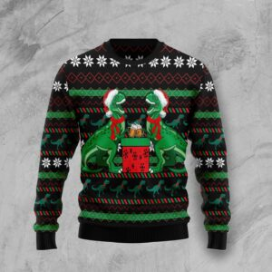T Rex Drink Ugly Christmas Sweater