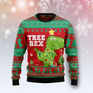 T Rex Tree Christmas Ugly Christmas Sweater