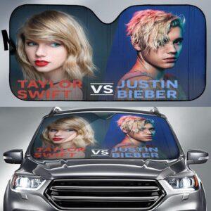 Taylor Swift Vs Justin Bieber Car Sun Shade
