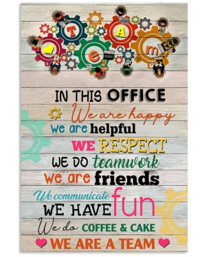 Teacher In This Office We Are Happy Poster