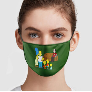 The Big Bang Theory Jim Parsons And Simpson Family Face Mask