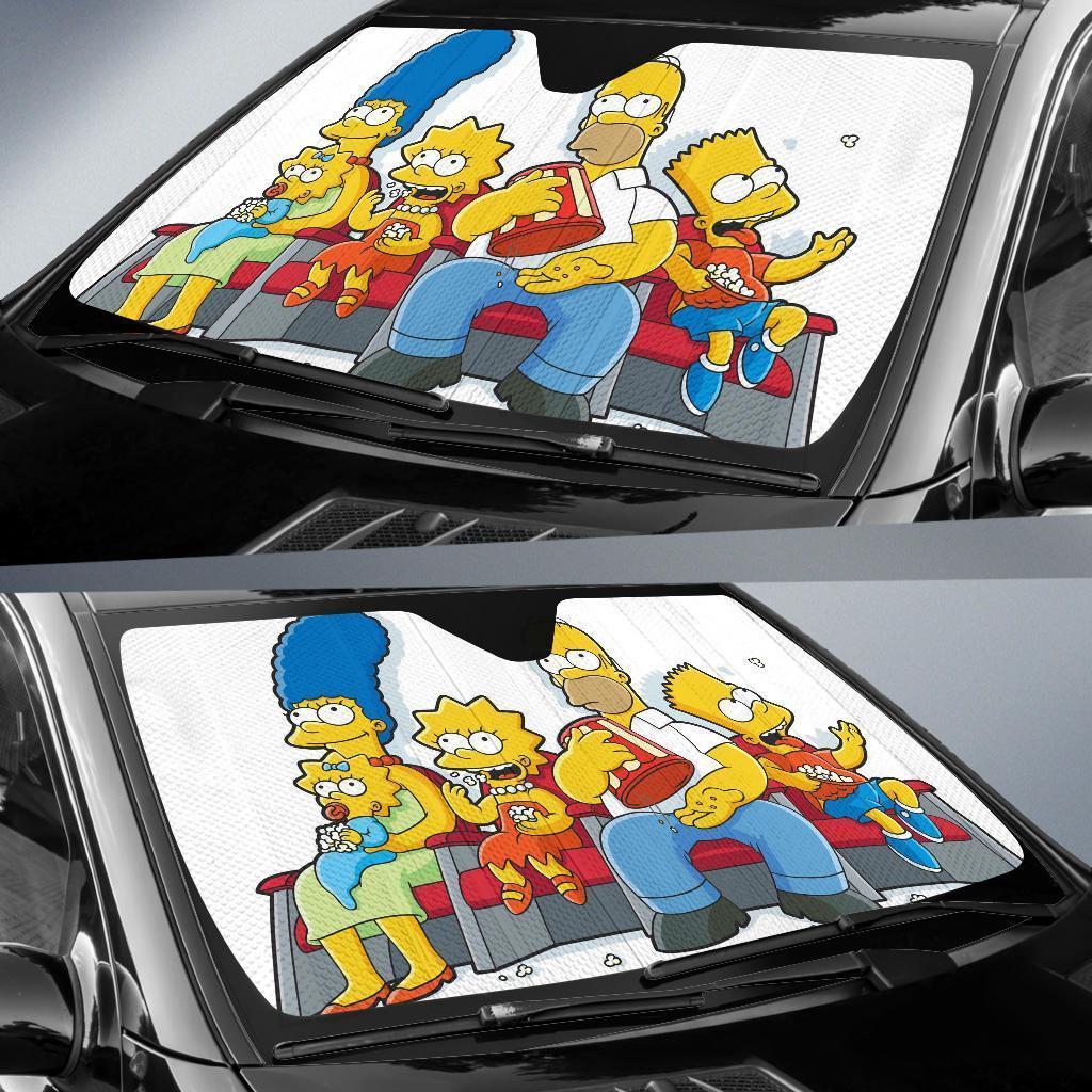 The Simpson Family Car Sun Shade