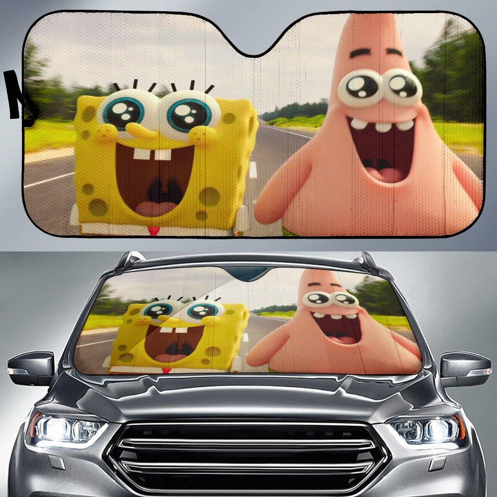 The Sponge Bob Movie Sponge Out Of Water Car Sun Shade