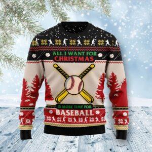 Time For Baseball Ugly Christmas Sweater