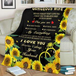 To My Wife My Everything Fleece Blanket