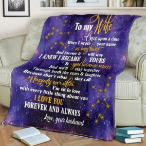 To My Wife Purple Fleece Blanket