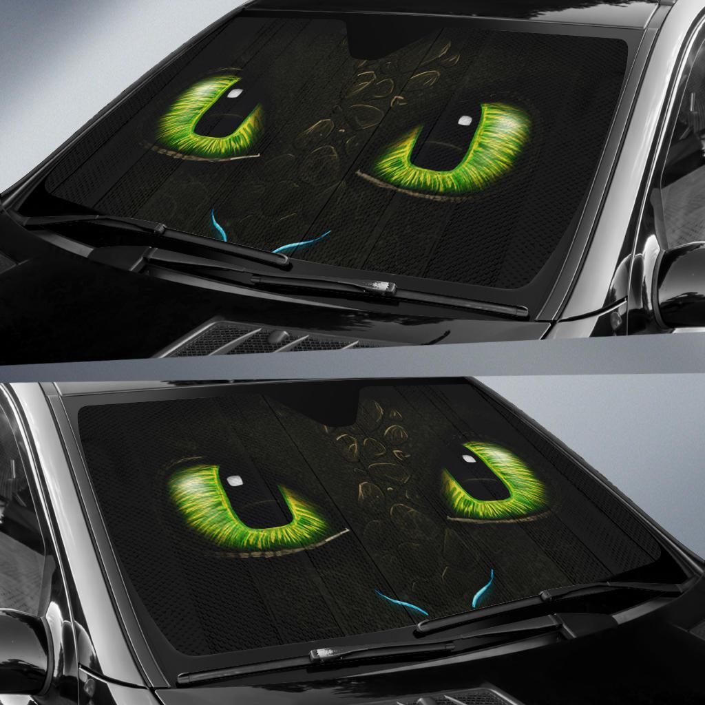 Toothless Eyes Car Sun Shade