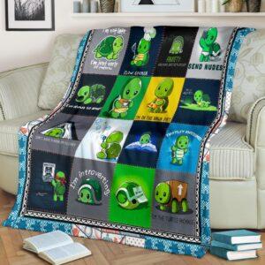 Turtle Green Fleece Blanket