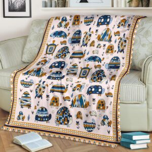 Turtle Line Art Fleece Blanket