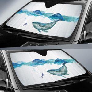 Underwater Whale Waves Horse Car Sun Shade 1