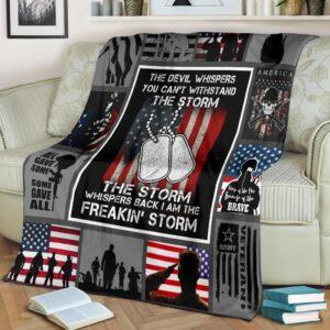 Veteran The Storm Fleece Blanket