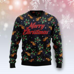 Violin Christmas Ugly Christmas Sweater