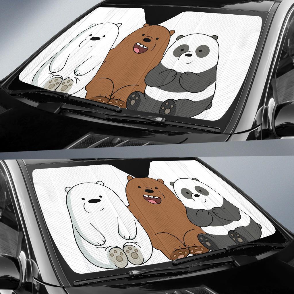 We Bare Bear Car Sun Shade