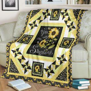 You My Are Sunshine Fleece Blanket