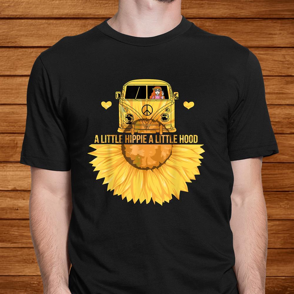 A Little Hippie A Little Hood Sunflower Hippie Van Peace Shirt