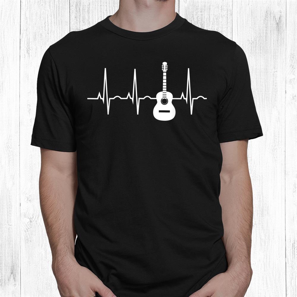 Acoustic Guitar Heartbeat Shirt Guitar Musician Shirt
