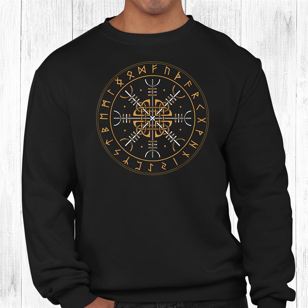 Aegishjalmur Shirt Nordic Viking Symbol Helm Of Awe Shirt