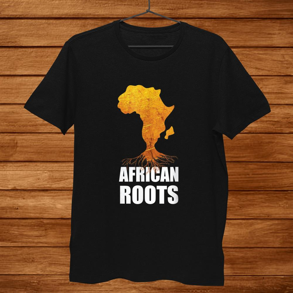 Africa Map T-Shirt With African Roots Afro American Shirt