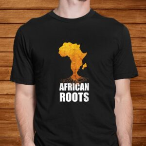 africa map t shirt with african roots afro american t shirt Men 2