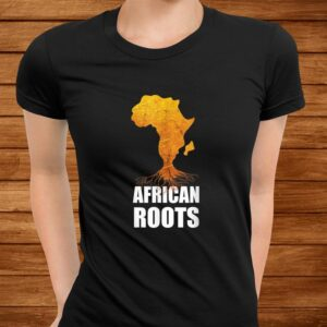 africa map t shirt with african roots afro american t shirt Men 3