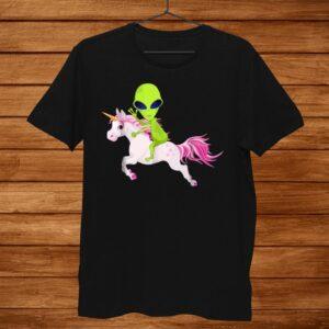 Alien Shirt Alien Riding Unicorn Shirt