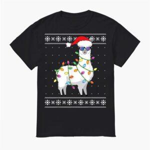 Alpaca Christmas Tree Shirt Ugly Christmas Shirt
