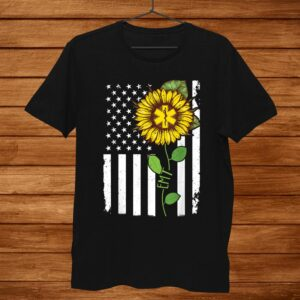 American Flag Emt Sunflower Hippie Tshirt Emt Shirt