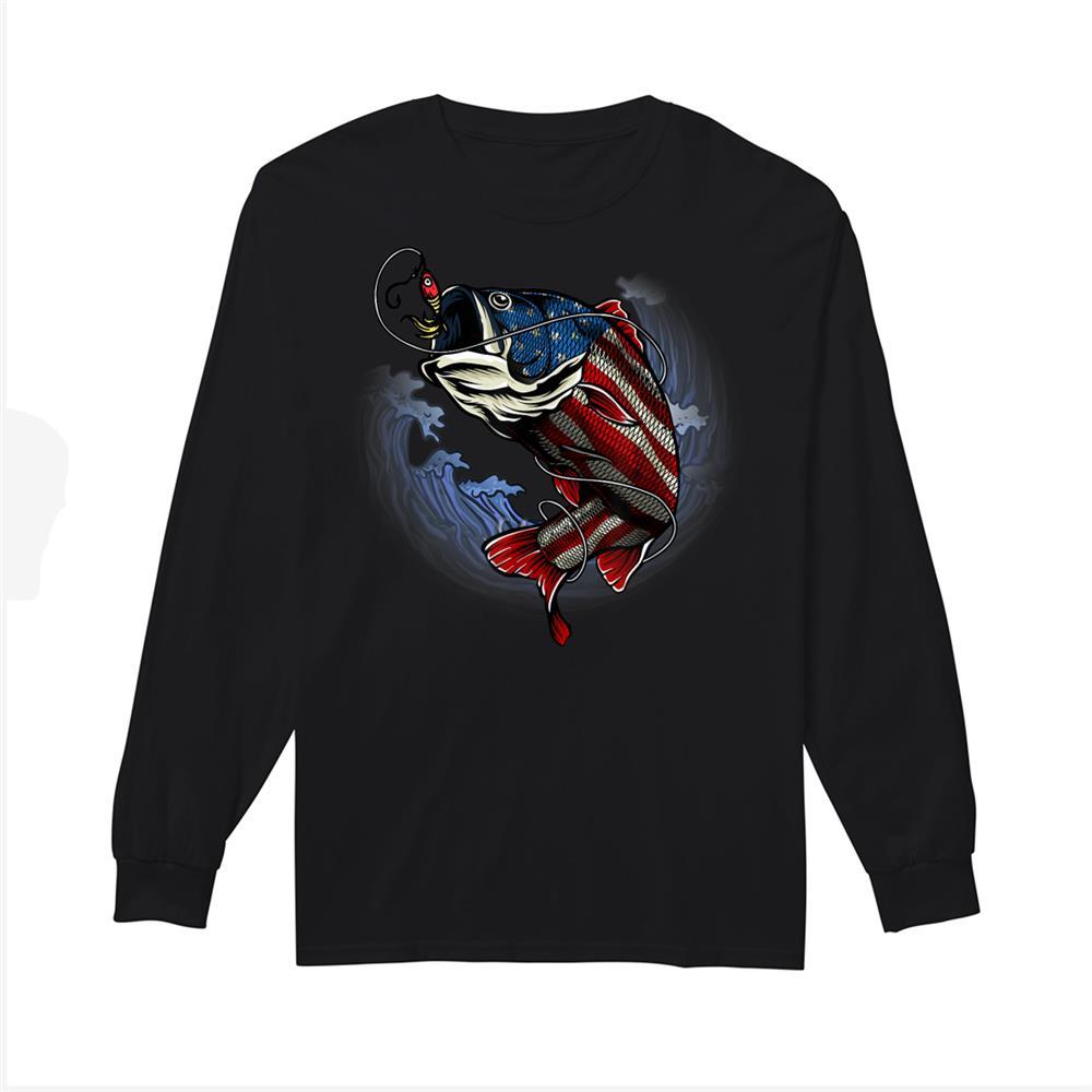 American Flag Fishing Patriotic Fisher Fishing Lovers Shirt